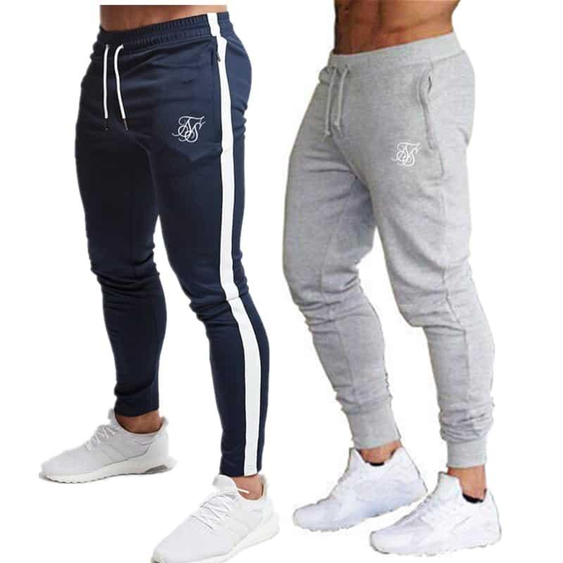 Preferenza Degli uomini sik di seta palestra jogging pantaloni casual in LW63