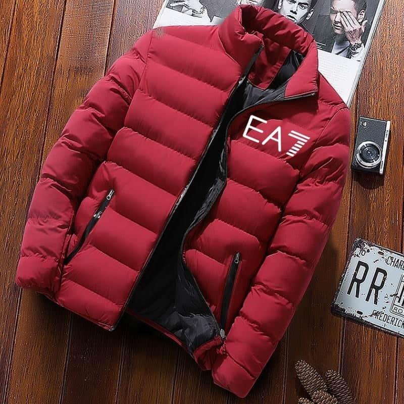 2020 autunno/inverno EA7 giacca da uomo in cotone di marca cappotto spessa vestibilità slim abiti moda casual abbigliamento per la casa giacca imbottita impermeabile