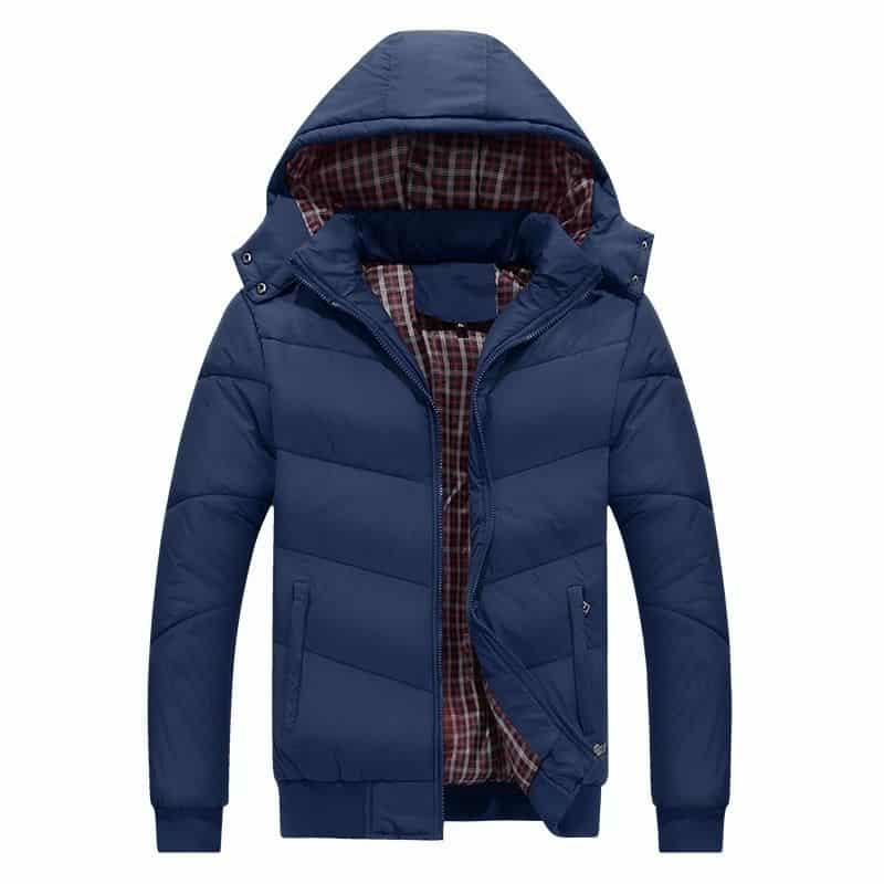 Trapuntato Panno di Cotone Giovane di Spessore degli uomini di Grandi Dimensioni di Cotone Imbottito Vestiti di Inverno Giacca Calda Degli Uomini