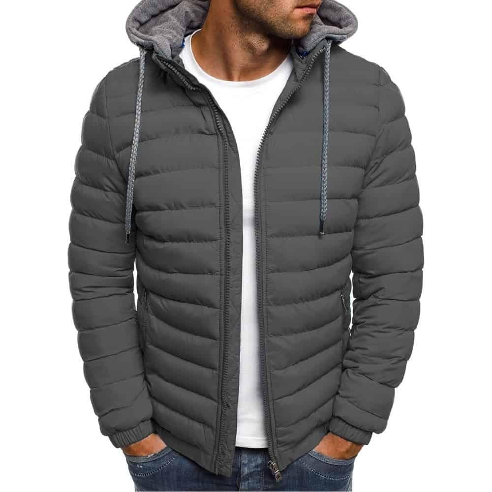 ZOGAA uomo parka invernale moda cappotto in cotone con cappuccio solido giacca Casual abiti caldi cappotto da uomo Streetwear piumino