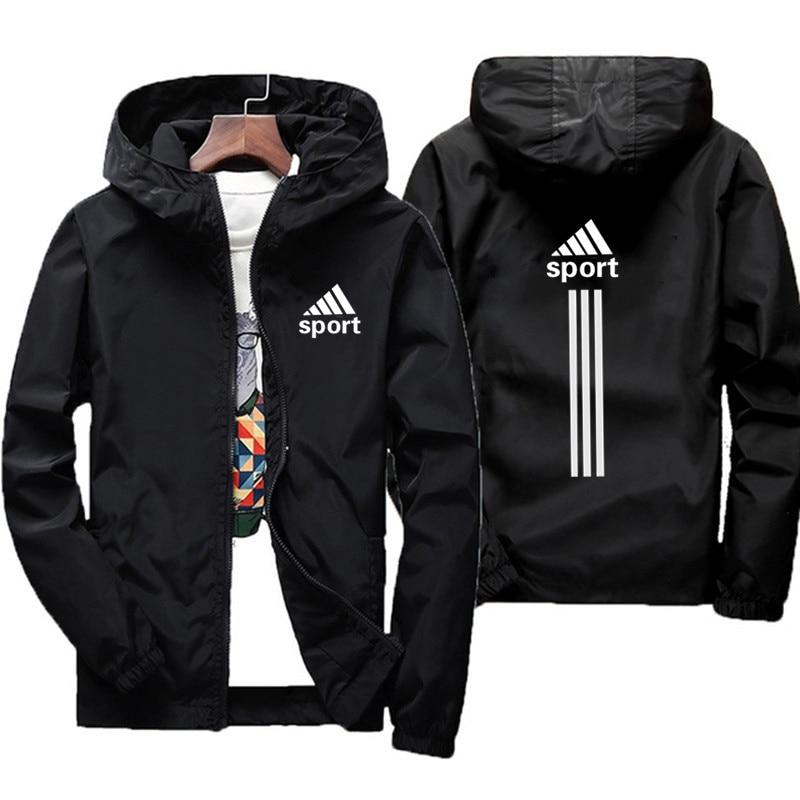 2021 autunno uomo e giacca da uomo stessa giacca manica lunga stampata con cappuccio giacca a vento cerniera giacca da uomo di marca da donna