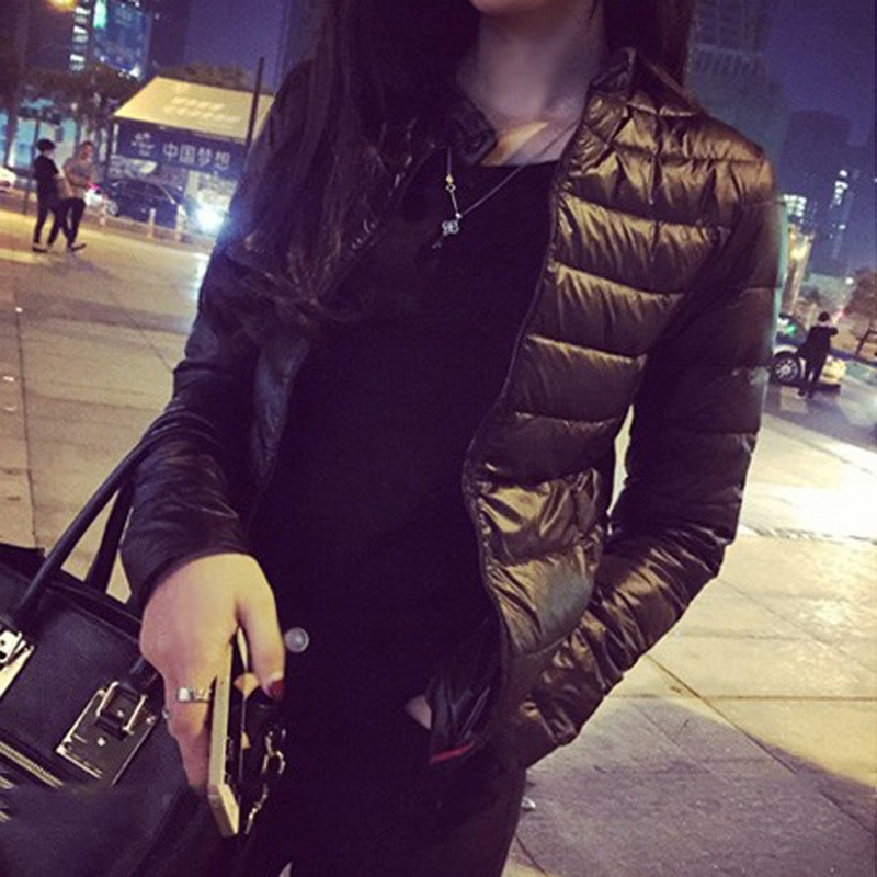 Piumino femminile 2021 primavera inverno donna europa e America sottile corto coltivazione Outwear giacca imbottita in cotone caldo Outwear