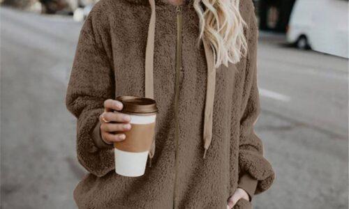 Felpe con cappuccio in lana felpa da donna calda invernale oversize top stile Harajuku cappotto manica lunga con cappuccio moda felpa con cappuccio top Streetwear
